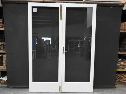 Large Set Of Quality Wooden French Doors With Safety Glass - Unhung