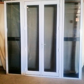 Canvas Cloth Aluminium French Doors