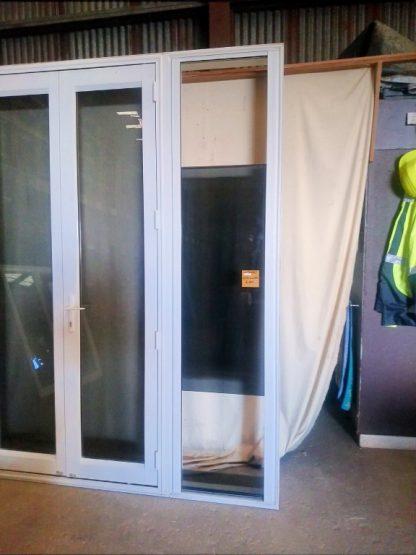 Canvas Cloth Aluminium French Doors