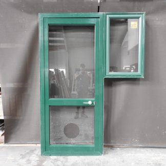 Permanent Green Ali Door With Awning Side Window