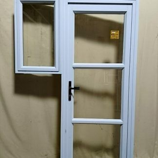 White Aluminium Door With Sidelight
