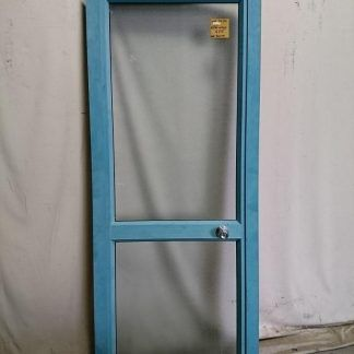 Teal aluminium door
