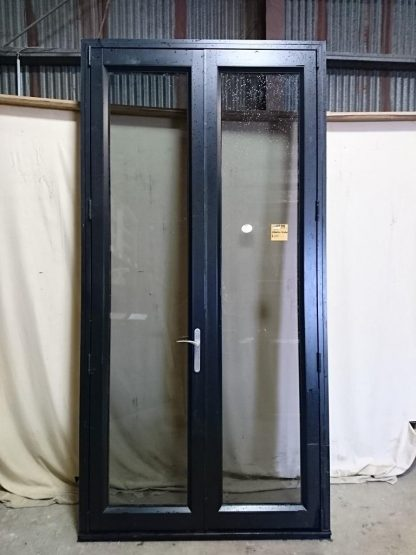 Black aluminium Smartwood French doors