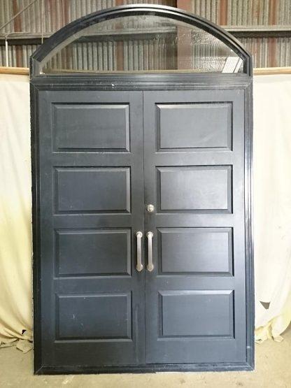 Black aluminium framed double door