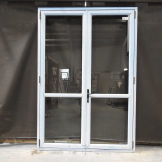 Blue (Faded) Aluminium French Doors