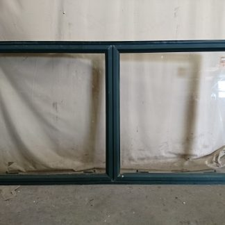 Karaka green aluminium double awning window
