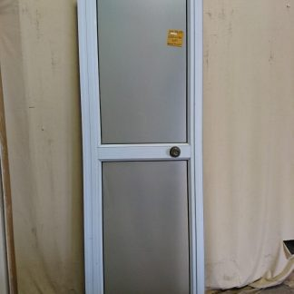 White aluminium door