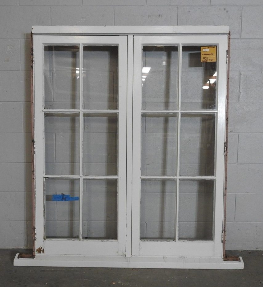 colonial style wooden casement window