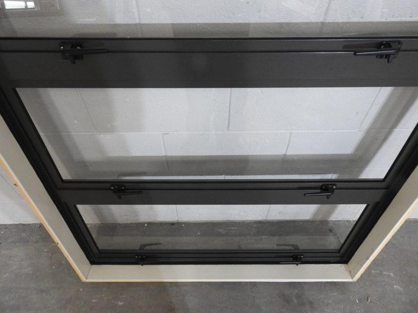 Ironsand aluminium triple awning window - some damage
