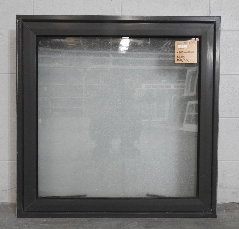 factory authentic dcd4d 5c15d Double Glazed Ironsand Aluminium Awning Window - Obscure Glass  H800mmxW800mm NL6062
