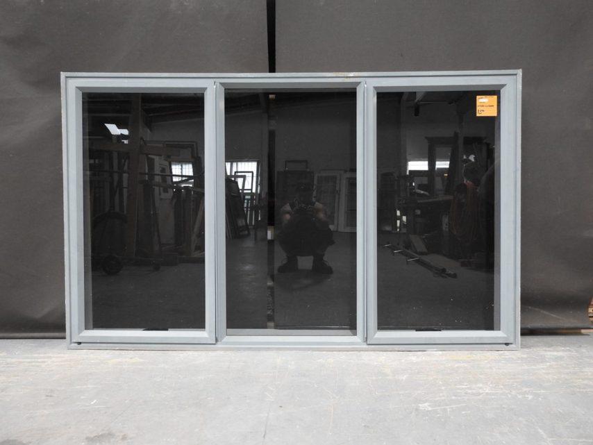 french grey aluminium double awning window - tint glass