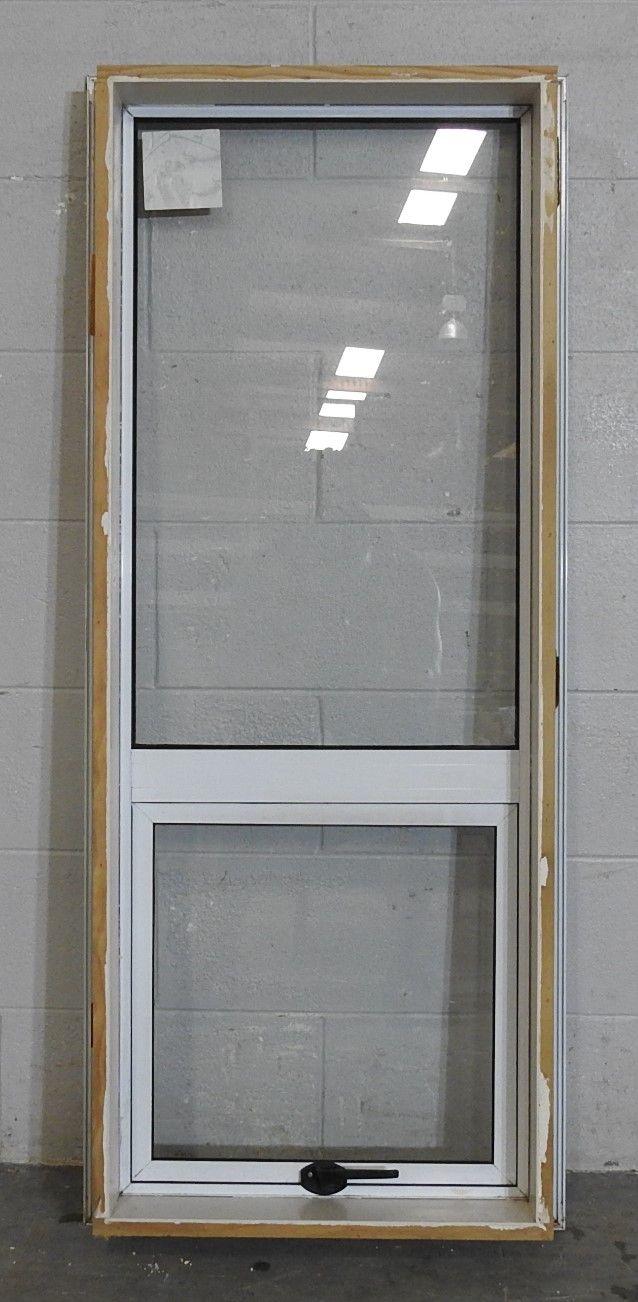 White aluminium awning portrait window