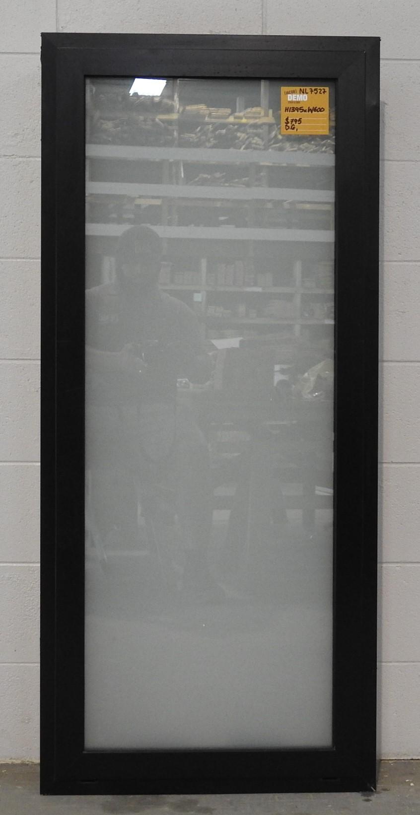 Black Aluminium double glazed awning window - near new