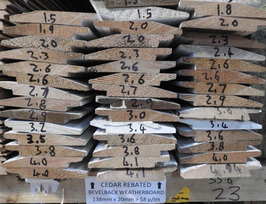 cedar rebated bevel back weatherboard