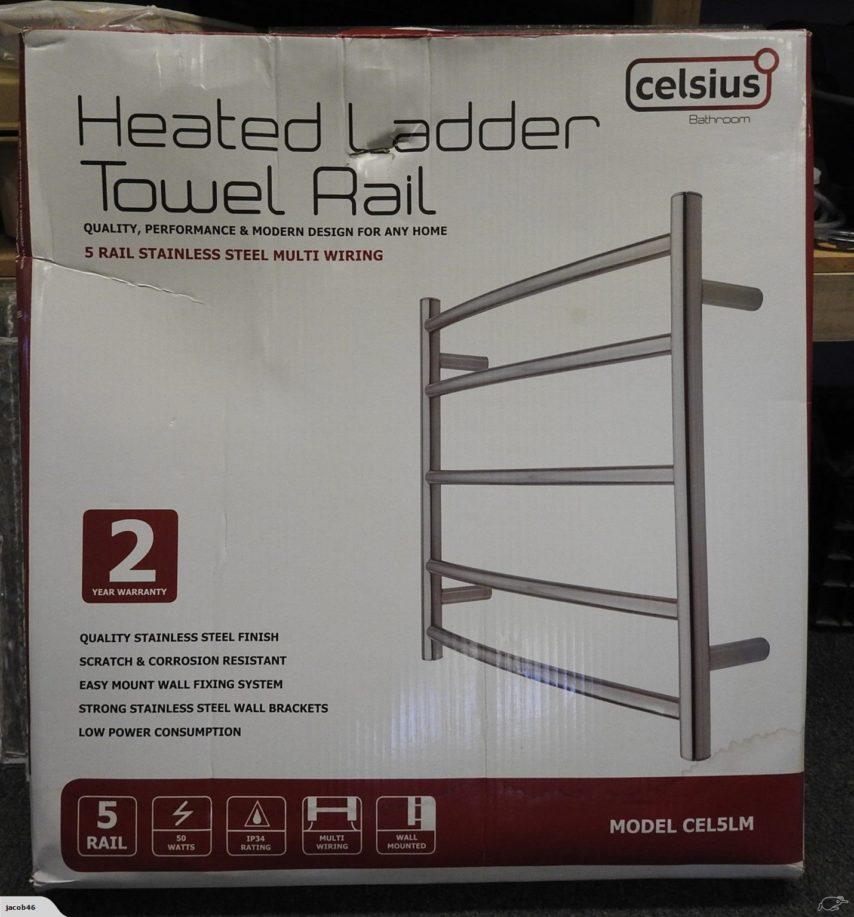 Celsius Heated Towel Rail - Model Cel5lm - Unused