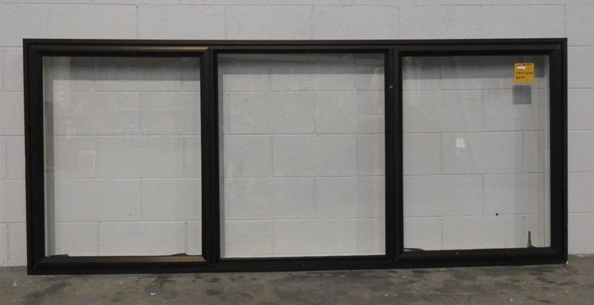 Dark bronze Aluminium double awning landscape window