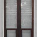 Wooden (cedar) bi-fold door