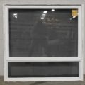 White Aluminium single awning window