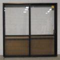 Bronze Aluminium sliding door - opens right to left