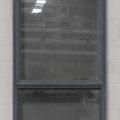 Denim blue Aluminium single awning window with tinted glass