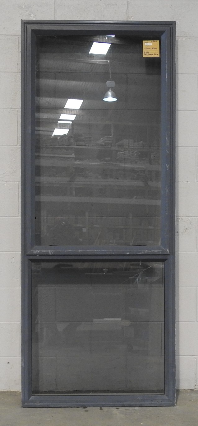 Denim blue Aluminium single awning window with tinted glass