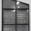 Black Aluminium sliding door with apex toplight